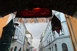 Венгриядагы шарынын бириндеги көчө. Архив