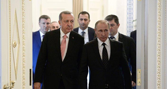 Россия президенти Владимир Путин жана президент Түркия башчысы Режеп Тайип Эрдоган