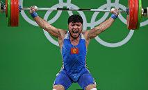 Тяжелоатлет из Кыргызстана Иззат Артыков. Архивное фото