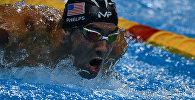 Белгилүү америкалык сууда сүзүүчү, Олимпиаданын 23 жолку чепмпиону Майкл Фелпстин архивдик сүрөтү