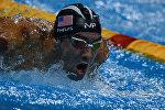Архивное фото самого титулованного олимпийского чемпиона всех времен, пловца из США Майкла Фелпса