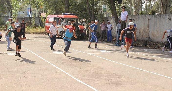 В Бишкеке проходит чемпионат Кыргызстана по пожарно-спасательному спорту