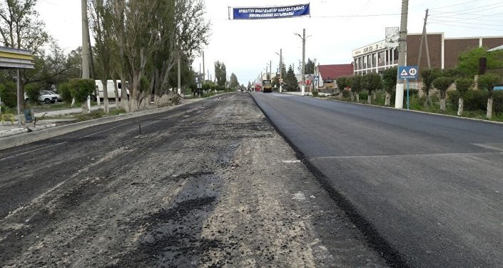 Отрезок отремонтированной трассы Балыкчи — Корумду. Архивное фото