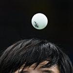 Түндүк Кореялык спортчу Ким Сон Ай теннис боюнча япон атаандашы менен кармашканда