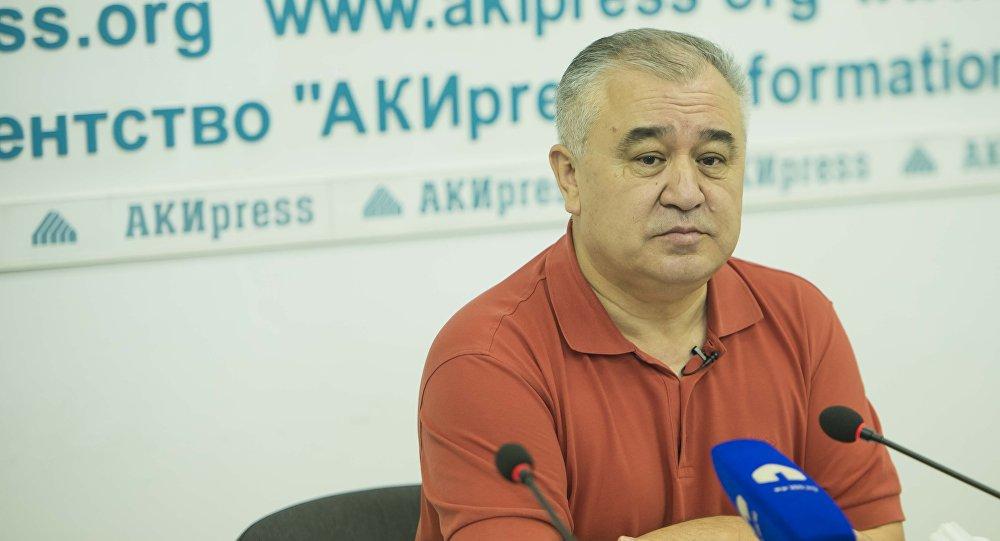 Депутат ЖК VI созыва Омурбек Текебаев, лидер фракции Ата-Мекен. Архивное фото