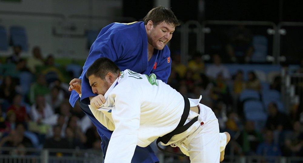 Дзюидоист из Кыргызстана Юрий Краковецкий во время соревнований. Архивное фото