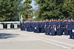 Летчики авиабазы ОДКБ Кант во время празнования дня Военно-воздушных сил России