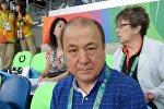 Экс-министр внутренних дел, вице-президент Объединенной федерации борьбы Мелис Турганбаев в Рио-Де-Жанейро