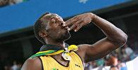 Ямайка жеңил атлетчиси Усэйн Болттун архивдик сүрөтү