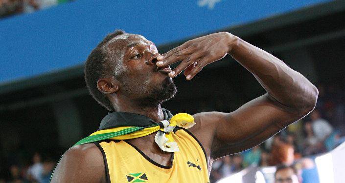 Архивное фото спринтера из Ямайки Усейна Болта