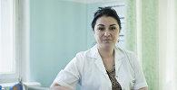 Психотерапевт Республиканского центра психического здоровья Жанна Каракеева во время интервью