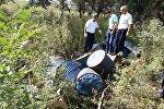 Ново-Павловка айылында батылган уулуу заттар салынган челектер