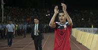 Архивное фото капитана сборной Кыргызстана по футболу Азамата Байматова