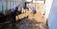 Последствия сильного ливня в городе Чолпон-Ата
