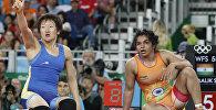 Борец из Кыгызстана в вольном стиле Айсулуу Тыныбекова на олимпийских играх в Рио-Де-Жанейро. Архивное фото