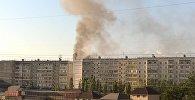 Пожар в многоэтажном доме  в микрорайоне Учкун