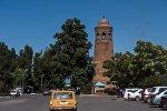 Минарет в городе Узген Ошской области Кыргызстана