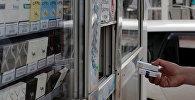 Продажа сигарет в одном из киосков. Архивное фото