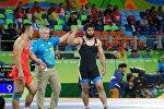 Борец вольного стиля из Кыргызстана Магомед Мусаев, выступавший в весовой категории до 97 килограммов на Олимпиаде в Рио-де-Жанейро, победил соперника в 1/8 финала и прошел в четверть финала.