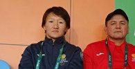 Архивное фото чемпионки Азии по женской борьбе Айсулуу Тыныбековой