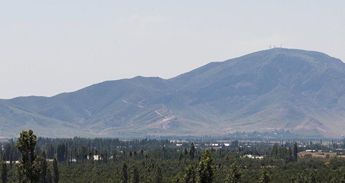 Радиорелейная система-24 Кербен на горе Унгар-Тоо в Аксыйском районе. Архивное фото