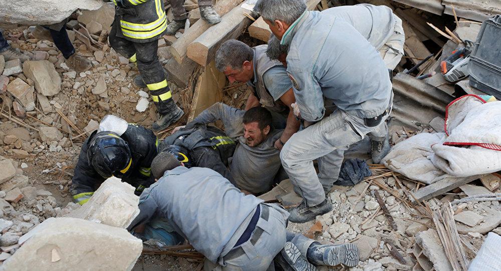 ВИталии при землетрясении погибли 38 человек