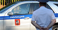 Полицейский автомобиль и сотрудник московской полиции. Архивное фото