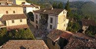 Итальянский Аккумоли после землетрясения. Кадры с беспилотника