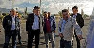 Премьер-министр Сооронбай Жээнбеков Ысык-Көл облусуна жасаган сапарында Балыкчы-Чолпон-Ата-Корумду жолунун курулушунда