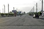 Участок автодорои Балыкчы-Чолпон-Ата-Корумду в селе Тамчы. Архивное фото