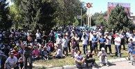 Митинг жителей Аксы по вопросам Ункур-Тоо