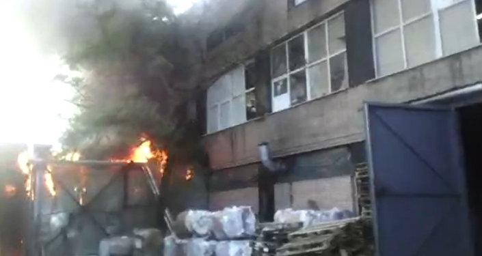 Кадры с места пожара в Москве, унесший жизни 16 кыргызстанцев