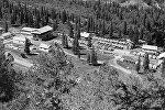 Вид на альпинистский лагерь Ала-Арча в 55 км от города Фрунзе.