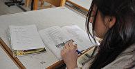 Ученица на уроке русского языка. Архивное фото