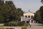 Кыргыз улуттук университетинин имаратынын архивдик сүрөтү