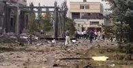 Как выглядит здание посольства Китая в Бишкеке после взрыва