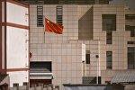 Дипломатическое представительство Китая в Бишкеке, на территории которого произошел взрыв автомашины марки Mitsubishi Delica.