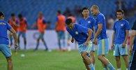 Футболисты сборной Казахстана перед матчем. Архивное фото