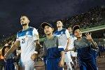 Кыргызстан курама командасынын футболчулары Казакстан командасы менен беттеш учурунда