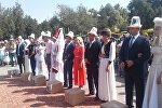 Ала-Бука районунда эгемендик күнүнө карата жети облустан жети жуп чакырылды