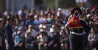 Военнослужащие на параде. Архивное фото