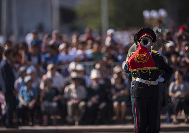 Парад прошел с участием курсантов Военного лицея имени Даира Асанова