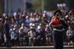 Празднование 25-летия независимости Кыргызстана в Бишкеке на площади Ала-Тоо. Архивное фото