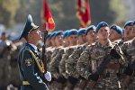 Кыргызстандын аскерлери. Архивдик сүрөт