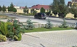 Теракт в посольстве КНР: взрыв и автомобиль Delica запечатлела камера