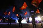 Праздничный концерт на площади Ала-Тоо в честь независимости Кыргызстана. Архивное фото