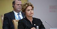 Президент Федеративной Республики Бразилия Дилма Роуссефф. Архивнео фото
