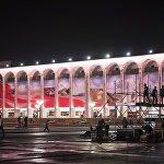 Праздничный концерт на площади Ала-Тоо в честь 25-летия независимости Кыргызстана