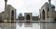 Вид на город Самарканд, Узбекистан. Архивное фото