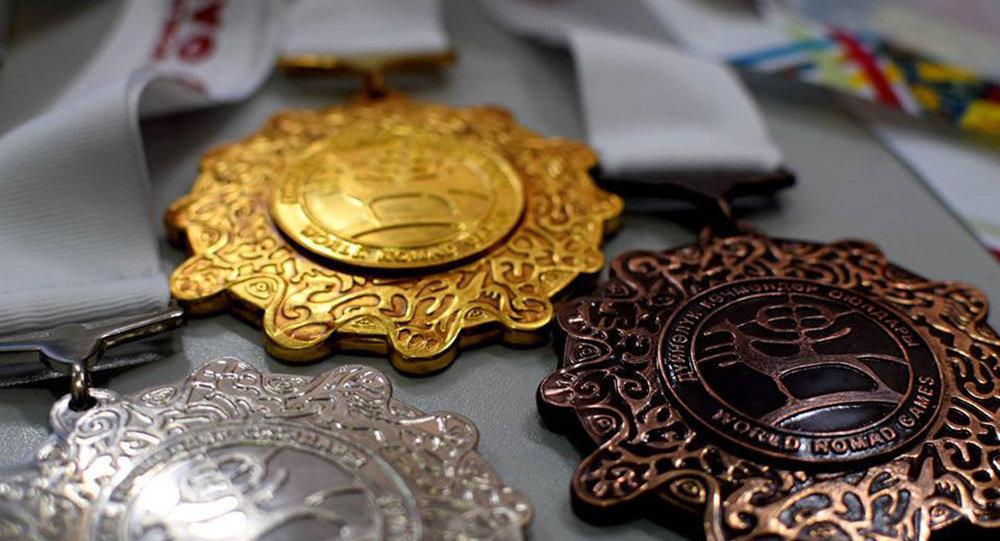 Биринчи Дүйнөлүк көчмөндөр оюндарынын медалдары. Архив